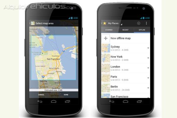 Mapas offline para móviles